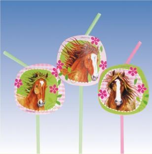 Trinkhalme Pferde-Party, 8er Pack