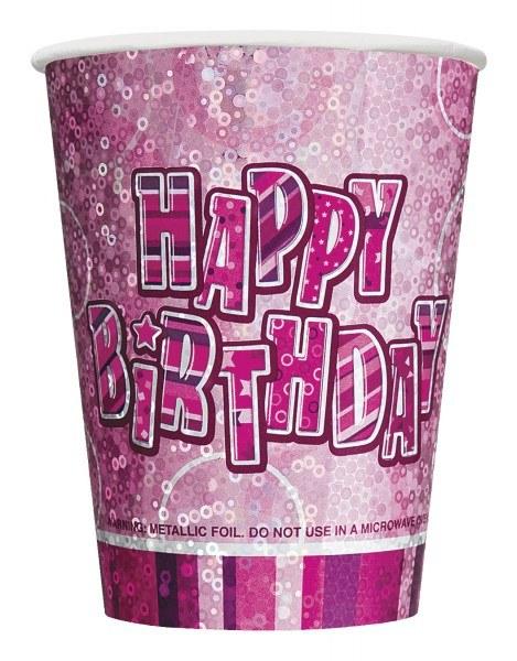 Pappbecher Pink Birthday