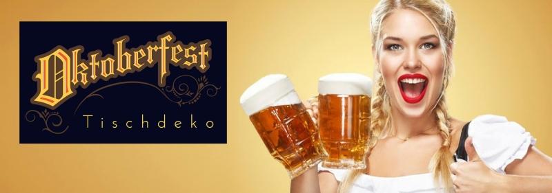 Oktoberfest Tischdeko Bierfest Banner