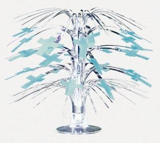 Tischkaskade Christliches Fest, blau, 21cm groß