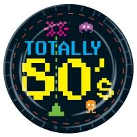 Papierteller 80er 8-bit Videospiel, ø 22cm, 8er Pack