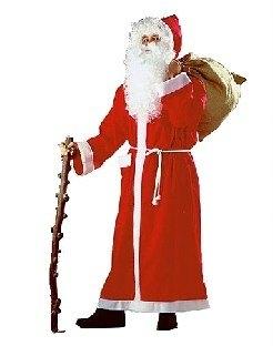 Langer Weihnachtsmann-Mantel aus Stoff