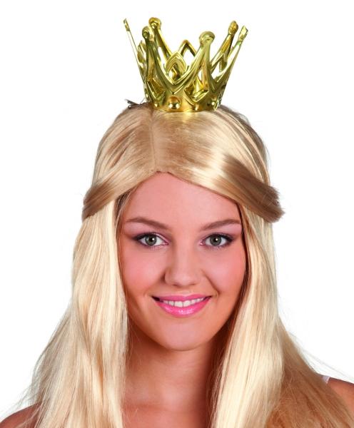 Einfache Plastik-Krone mit Klettverschluss - Prinzessinnen Deko