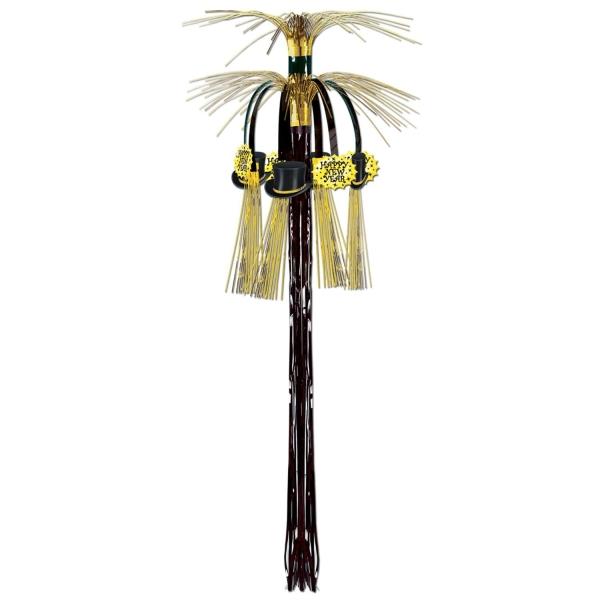Party-Extra Kaskaden Dekohänger Goldene Silvesterparry, 90 cm