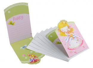 6'er Pack Einladungskarten Kleine Prinzessin