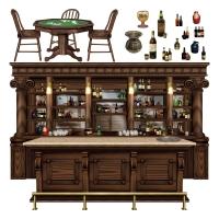 Party-Extra Dekofolie Western Bar - Saloon Deko