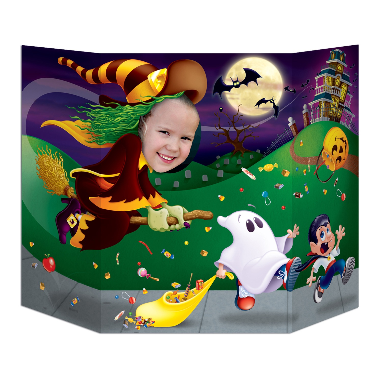 Fotowand aufsteller halloween hexe 94x64cm party extra - Fotowand aufsteller ...