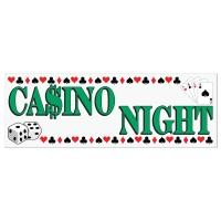 Party-Extra Mega-Partybanner Casino Night - Las Vegas Deko