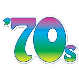 Party-Extra Cutout '70s - 70er Jahre Symbol Deko