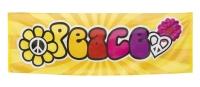 Mega-Partybanner Peace, 220x74cm