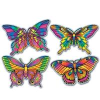 Cutout Set Schmetterlinge, 4 St.