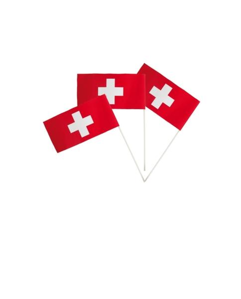 Papier-Fähnchen Schweiz - unglaublich günstig