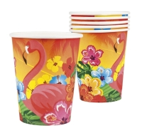 Pappbecher Beachparty, 6er Pack