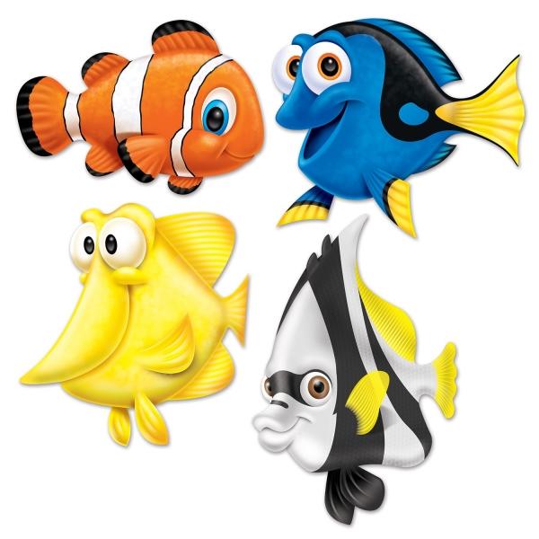 Cutout-Set Korallenriff-Freunde - Deko Unterwasserwelt