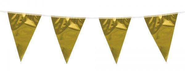 Metallic Wimpelkette Gold