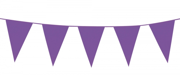 Mini-Wimpelkette Violett