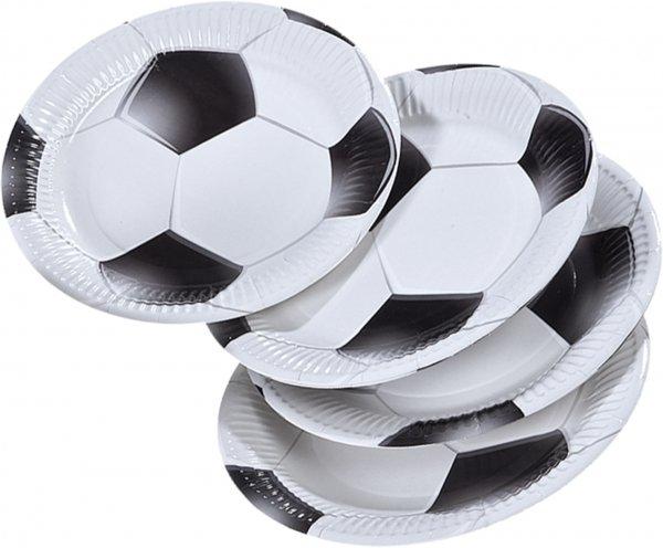 Party-Extra Pappteller Fußballmatch - Fußball Tischdeko für Meisterschaften
