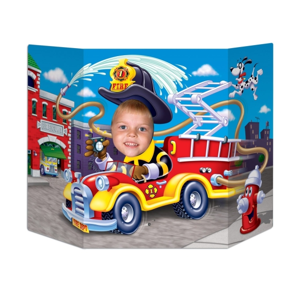 Fotowand Aufsteller Feuerwehr