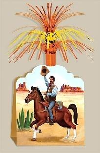 Tischdeko Cowboy, 18 cm breit, 25 cm hoch