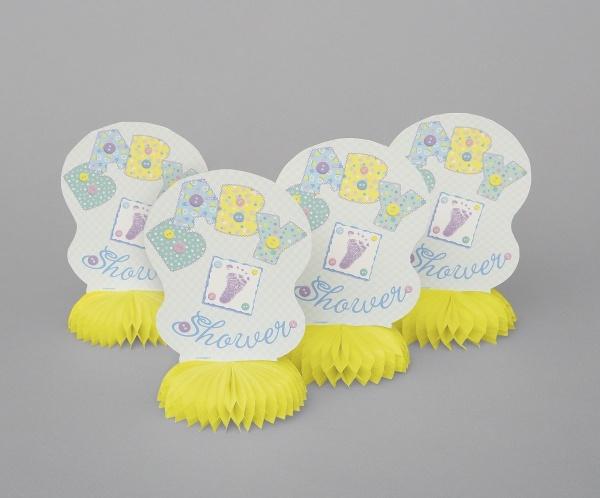 Mini-Tischdekoset Baby Shower, 4er Pack