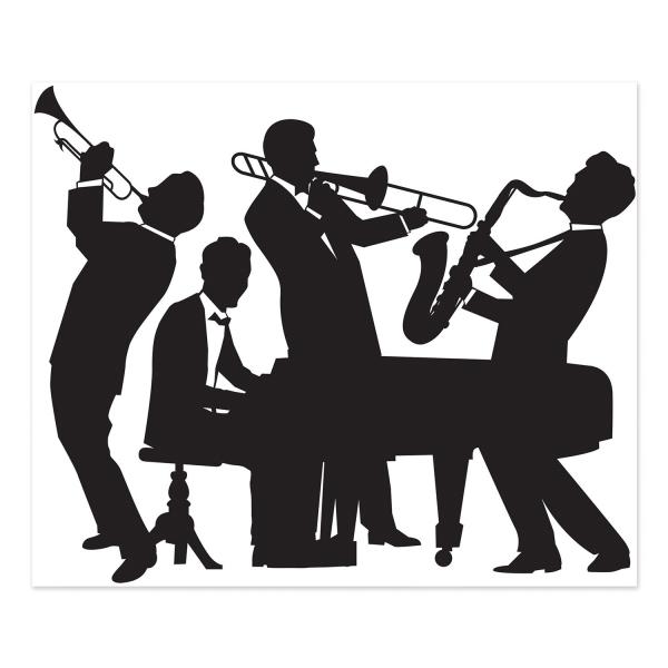 Dekofolie Jazz Band - Goldene 20er Jahre Deko