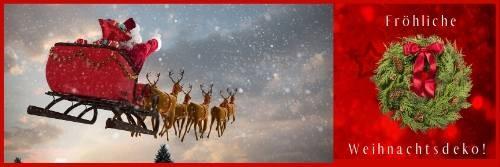 Party-Extra Froehliche Weihnachtsdeko M