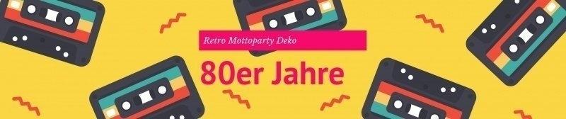 Party-Extra 80er Jahre Mottoparty Retro Deko
