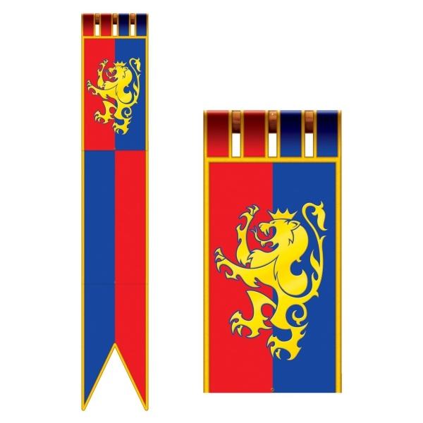 Riesen-Cutout Ritter Partybanner - Mittelalter Deko