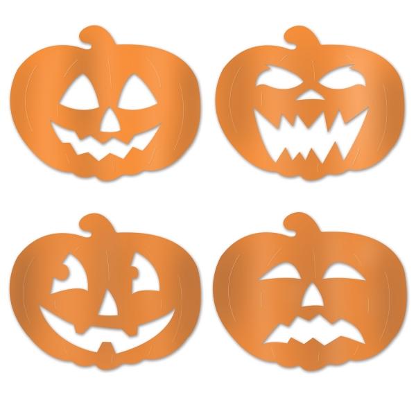 Folien Cutouts Halloween Kürbis - Halloweendeko