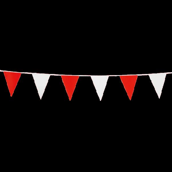 Mini-Wimpelkette rot-weiss - Vereinsfarben Deko