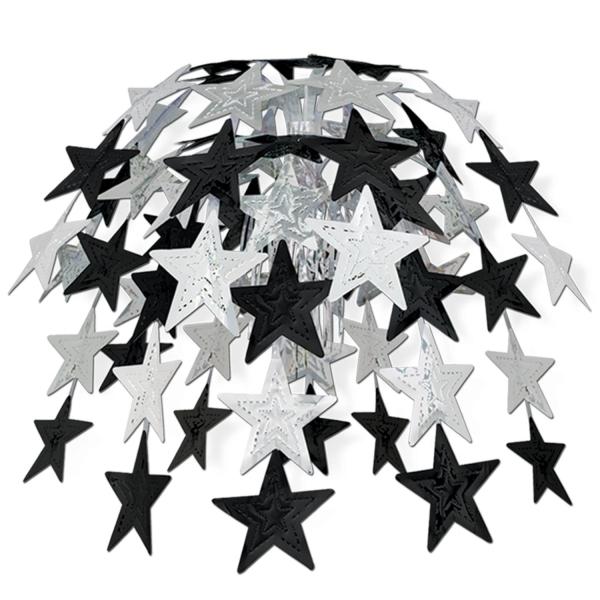 Party-Extra Große Hängekaskade Silver Starlight, 60 cm