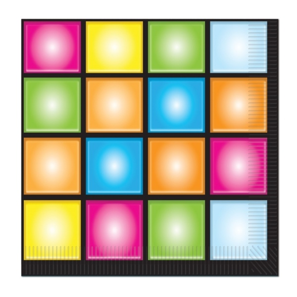Party-Extra Servietten Disco Fever, 16er Pack