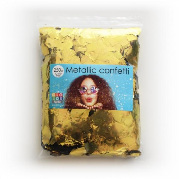 Megapack Metallic-Konfetti gold - Goldene Deko