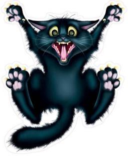Fenster-Folie Panik-Katze, 30cm groß