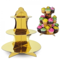Cupcake / Muffin Etagere Gold, 35cm