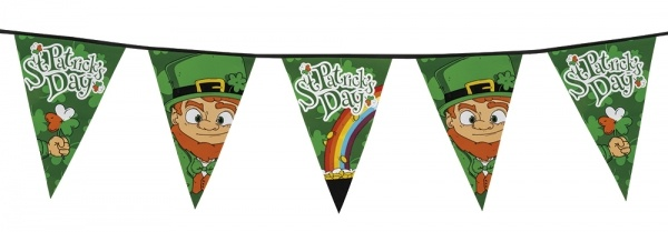 Party-Extra XL - Wimpelkette St. Patrick's Day, 8 Meter