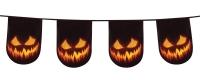 Flaggenkette Spooky Pumpkin, 6 Meter