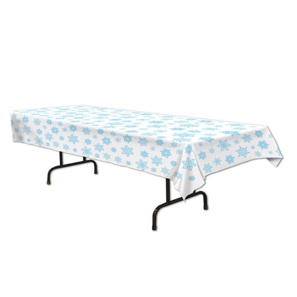 Plastik-Tischdecke Schneeflocke - Huettenzauber Deko
