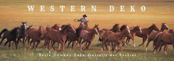 Originelle Western Deko fuer wenige Dollar, Cowboy. Westernparty feiern.M