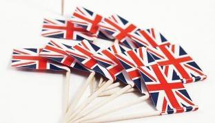 Flaggenpicker Groß Britannien, 50 Stück