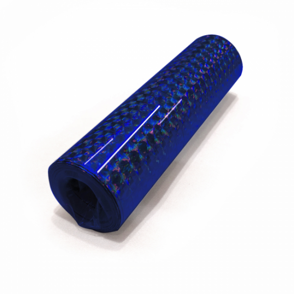 Luftschlangen, holographisch, blau - Glamour Deko
