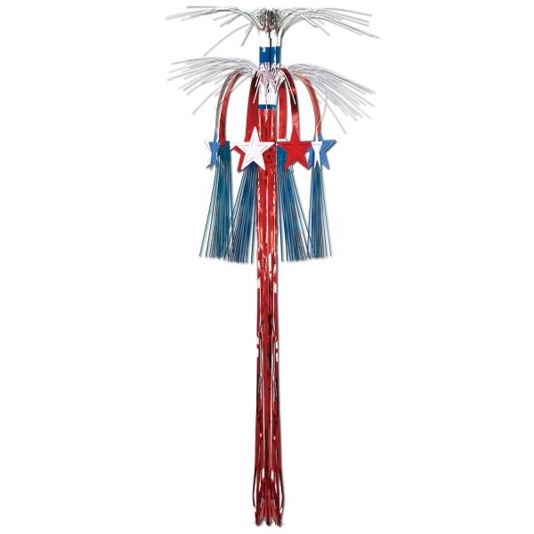 Kaskaden-Riesendekohänger rot-weiß-blau - Amerika Deko