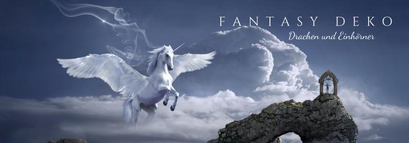 Fantasy Deko - Drachen, Einhörner, Elfen