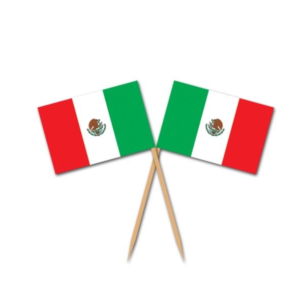 Flaggenpicker Mexiko, 50er Pack