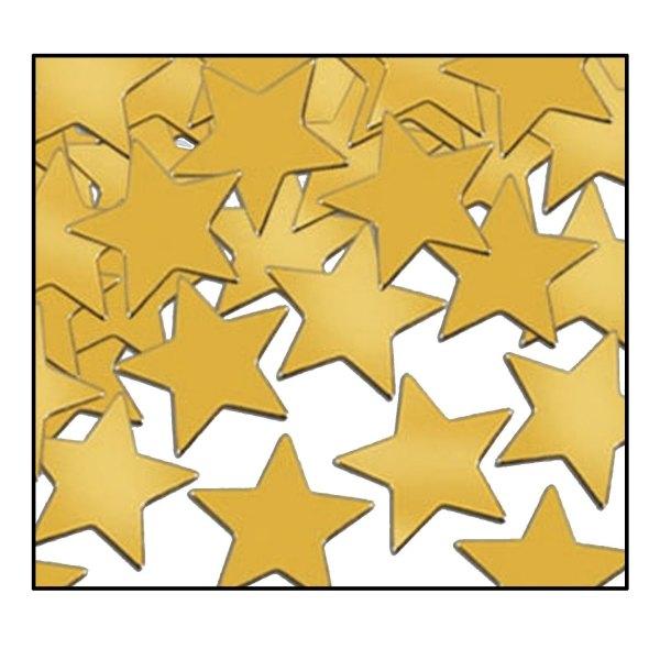 Party-Extra Tischkonfetti Goldene Sterne - Edle Tischdeko