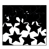 Tischkonfetti Schwarze Sterne, 28 g Pack