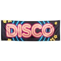 Riesen Stoff-Banner Disco Star - Discoparty Deko