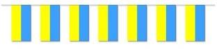 Papier-Flaggenkette gelb-blau