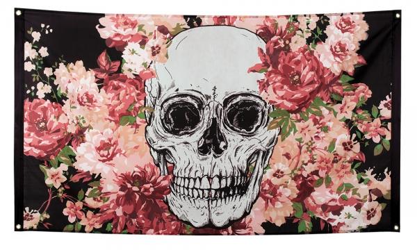 Dekofahne Dia de Muertos - Sugar Skull Deko