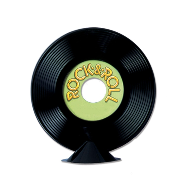 Party-Extra Tischdeko Schallplatte 22 cm, beschriftbar